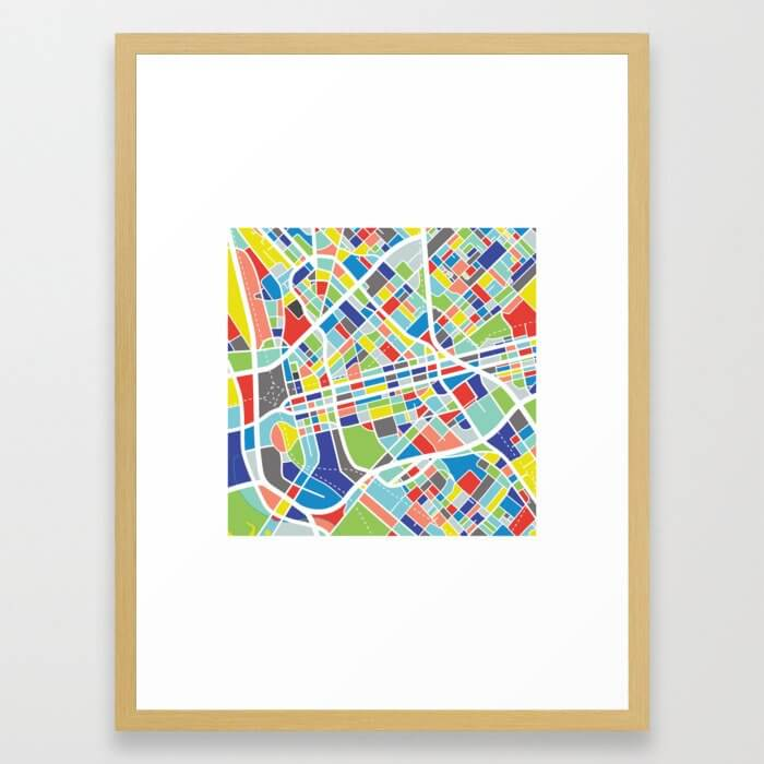 Dallas Framed Art Print