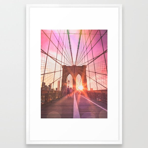 NYC Brooklyn Bridge Framed Art Print image