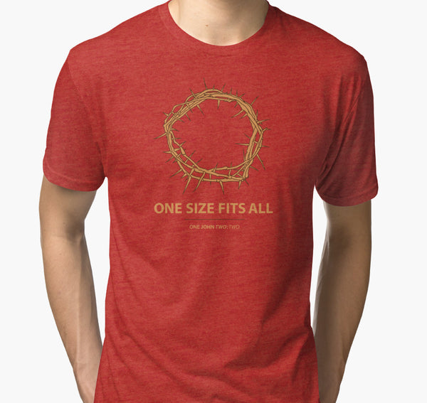 One Size Fits All Jesus crown of thorns tee