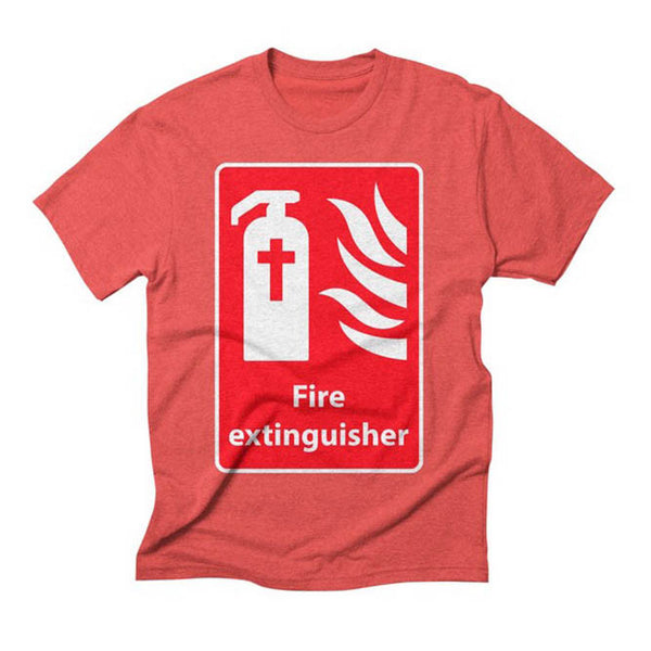 Fire Extinguisher For Hell Christian T-Shirt Design image