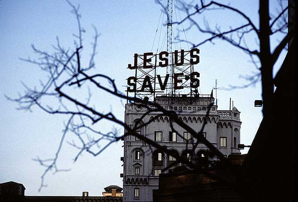 Jesus Saves Building Sign image