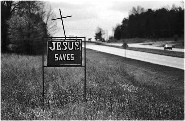 Road Sign: Jesus Saves image