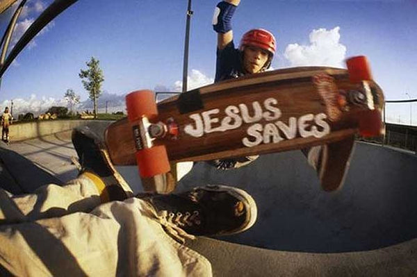 Jesus Saves Skateboard Design image