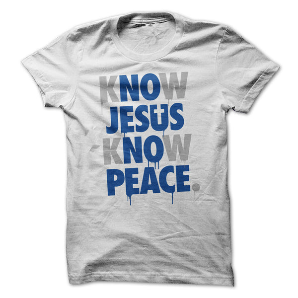 No-Jesus-No-Peace in white and grey blue