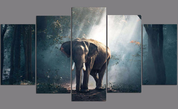 elephant print wall artwork image