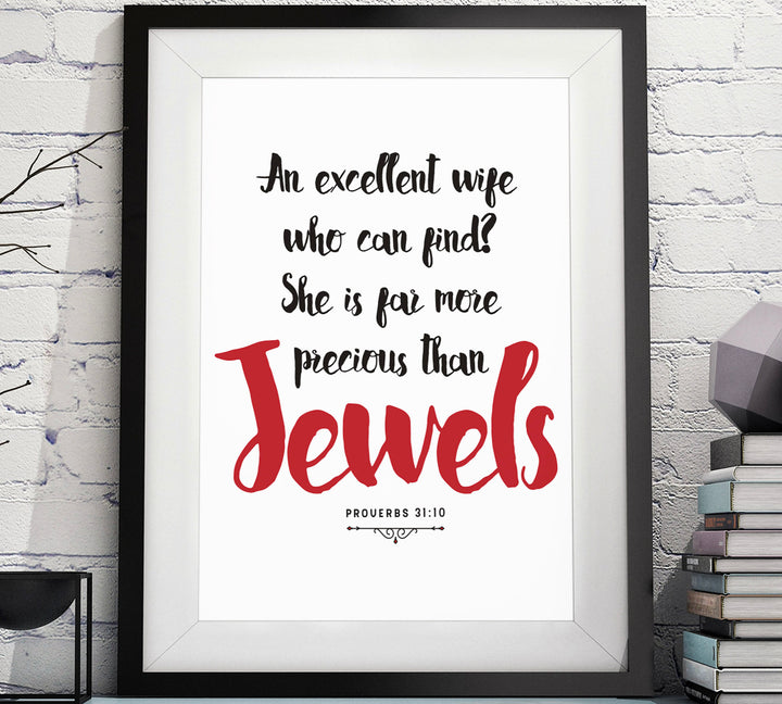 Proverbs 31:10 Christian Wall Art
