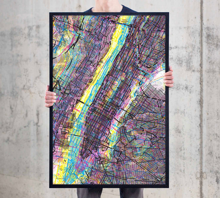 Psychedelic Art of NYC Manhattan