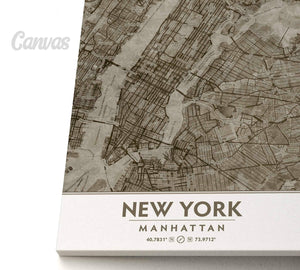 Putty and Beige Manhattan Canvas Print