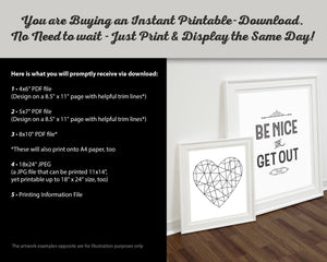 Instructions for Christian Wall Art print