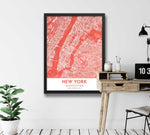 Coral Blush Pink Living Room Decor showing Manhattan NYC image
