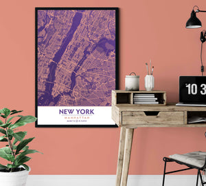 Ultra Violet & Blooming Dahlia NYC Decor