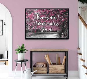 Dreams Don't Work Unless You Do Boho artwork