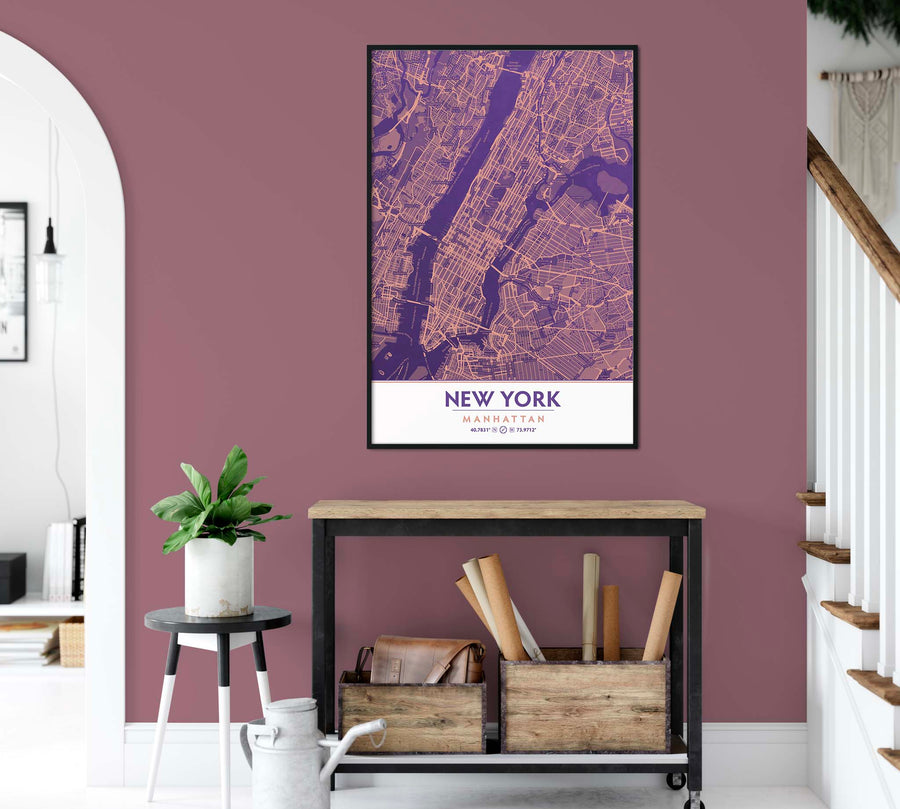 Ultra Violet & Blooming Dahlia Color Manhattan New York City NYC Decor