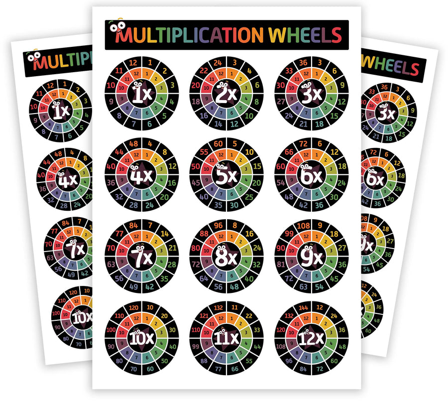 Multiplication Chart Times Table Educational Homeschool Gift - Counting Wheel Rings Maths