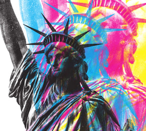 CMYK Artwork of Lady Statue of Liberty closeup