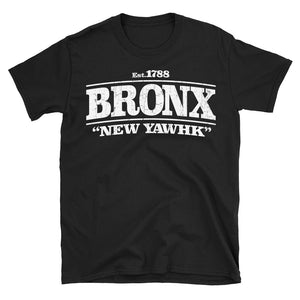 Get this New York City Bronx design to wear when out and about in NYC, or no matter where you are in the world! The retro, vintage-style graphic reads 'Set. 1788 - Bronx - New Yawhk in Black