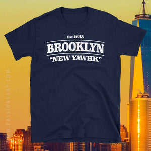 Brooklyn New York Distressed Retro Tshirt Graphic with NYC photo