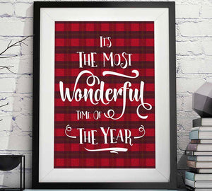 its a most wonderful time of the year Christmas printable