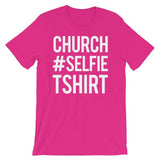 Church Selfie Christian Tee Shirt in Pink-Berry