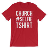 Church Selfie Christian Tee Shirt in Red Variety