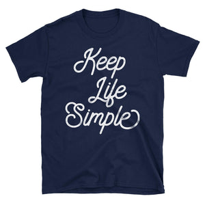 Keep Life Simple Motivational Quote Tshirt Design  in Blue