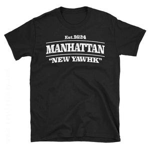 Manhattan New York Black Tshirt
