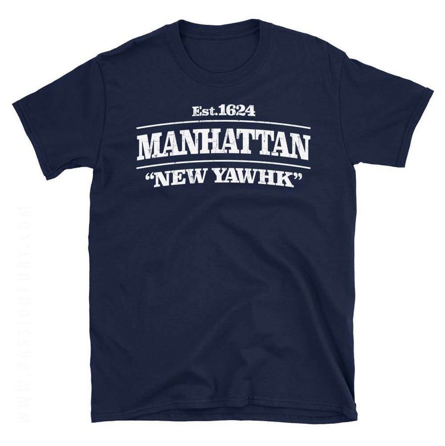 Manhattan New York Navy Blue Tee