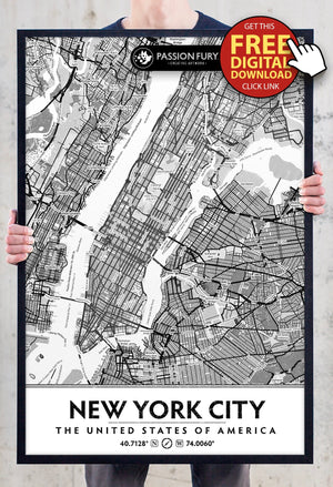 🗽 Free New York City DIY Artwork Printable