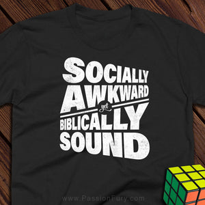 Socially Awkward rubix tee image