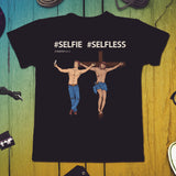 Selfie Selfless Jesus on the Cross Tshirt