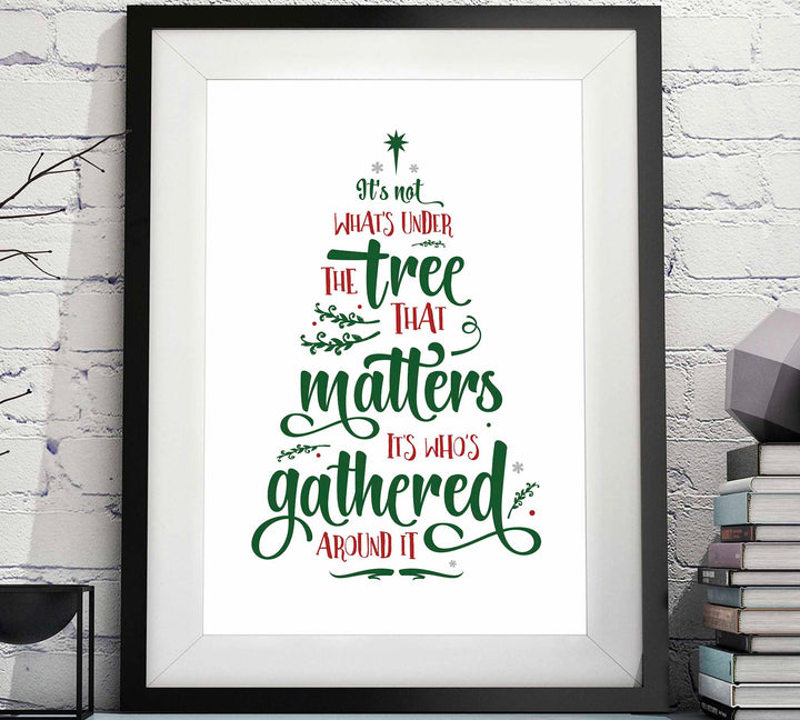 It's not what's Under the Tree that Matters, it's who's Gathered Around it image