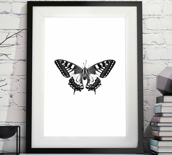 Black & White Butterfly Printable artwork