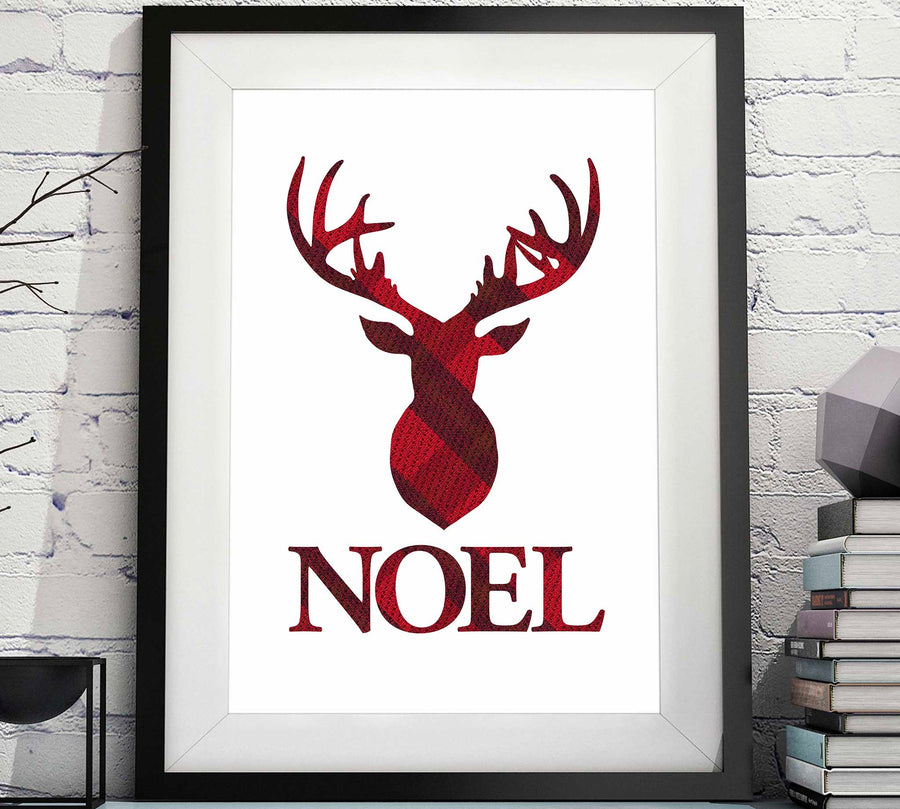 NOEL Stag Head Wall Decor - Christmas Printable image