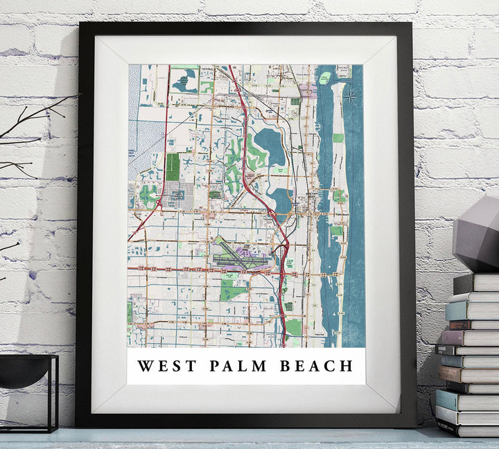 West Palm Beach Map Florida Printable