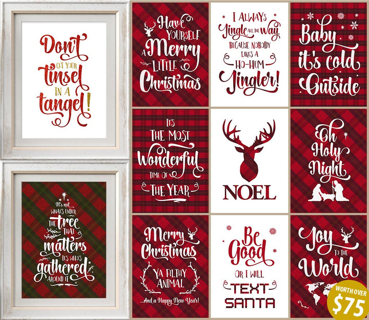 Christmas printable set from Passion Fury