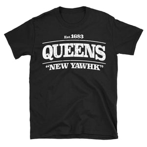 Queens New York tshirt in black colour