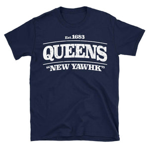 Queens New York tshirt in navy blue colour