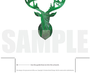 picture regarding Printable Deer Head Silhouette known as Deer Mind Silhouette Palm Leaves Printable - Deer Define