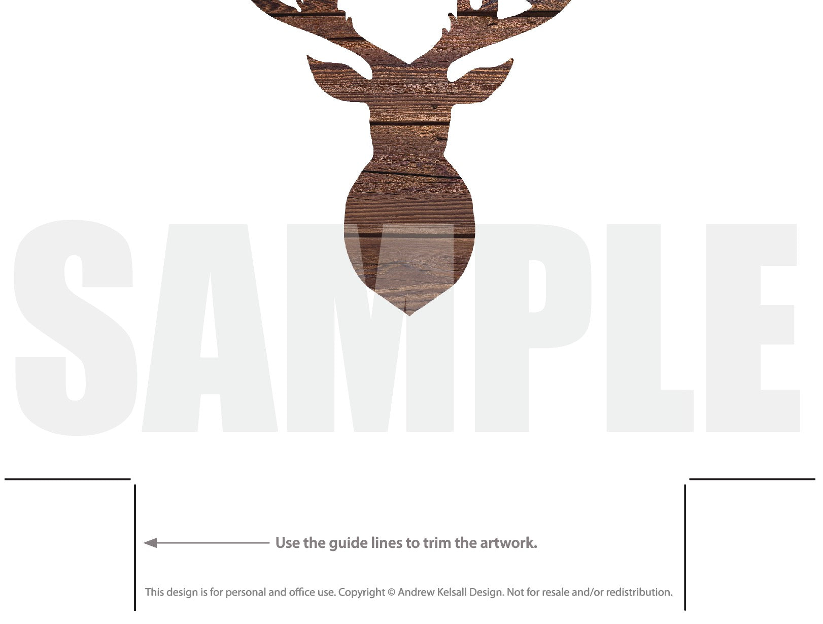 photo regarding Printable Deer Head Silhouette called Deer Brain Silhouette Palm Leaves Printable: Deer Thoughts
