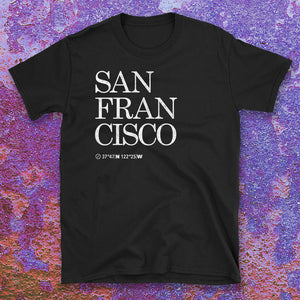 San Francisco City USA Tshirt Design with textured background