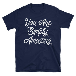 You Are Simply Amazing Motivational Quote Tshirt in navy blue
