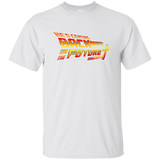 Christian themed back in the future tshirt in white