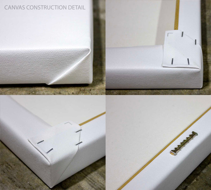 Set of four images showing various angles of the Canvas Sample
