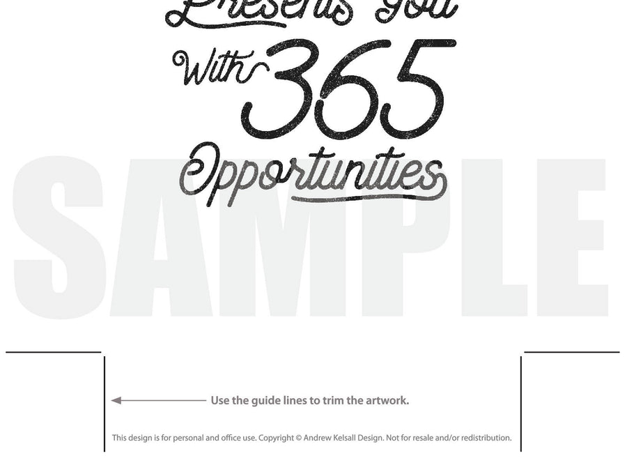 Opportunities Motivational Quote (Printable)