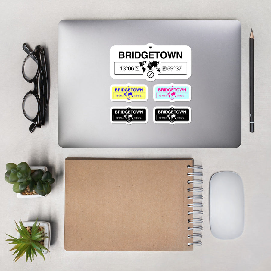 Bridgetown, Barbados High-Quality Vinyl Laptop Indoor Stickers