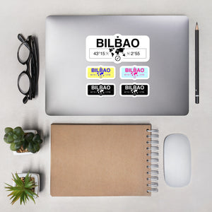 Bilbao, Basque Country Stickers, High-Quality Vinyl Laptop Stickers, Set of 5 Pack
