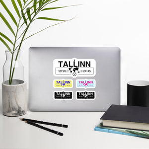Tallinn, Estonia High-Quality Vinyl Laptop Indoor Stickers