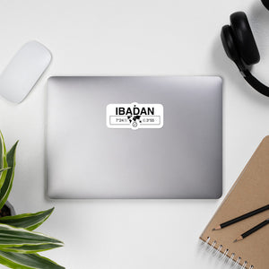 Ibadan, Nigeria Single Laptop Vinyl Sticker