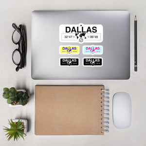 Dallas, Texas Stickers, High-Quality Vinyl Laptop Stickers, Set of 5 Pack