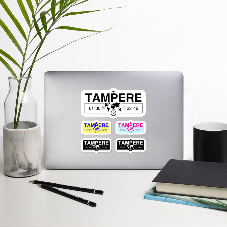 Tampere, Finland High-Quality Vinyl Laptop Indoor Stickers